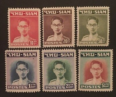 SIAM. MNH Stamps. 1947/49. Short Set. King Rama IX. Investment Grade Opportunity