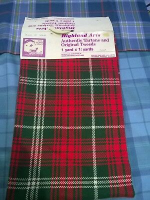 Selection of Tartan material packs #1  for skirts, kilts and home furnishing