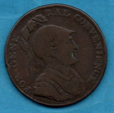 1793 Copper Halfpenny Token. For General Convenience.