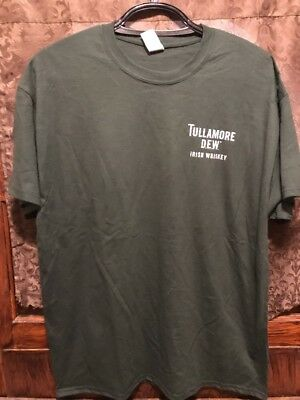 TULLAMORE DEW IRISH WHISKEY ~ XL ~ NEW T Shirt BONUS Football Rugby STRESS BALL