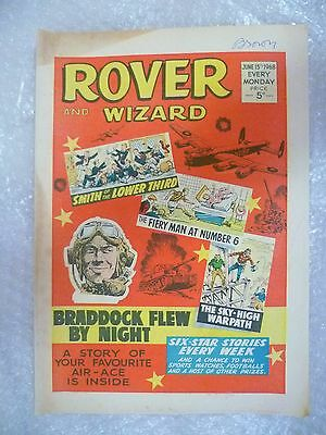 Comic- Rover and Wizard 15 June 1968