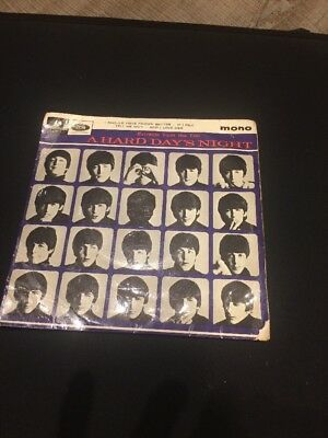 "The Beatles - A Hard Day's Night. 1st Press 1964 UK Mono 7"" EP (GEP 8920)"