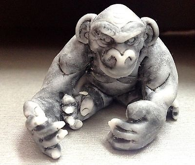 Chimpanzees marble chips figurine monkey realistic Russia Gorillas & Apes
