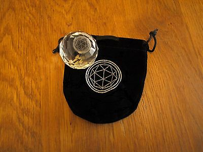 Official Crystal Maze Crystal & Pouch.Games,TV,Globes,PaperWeight,Art,Orbs.e