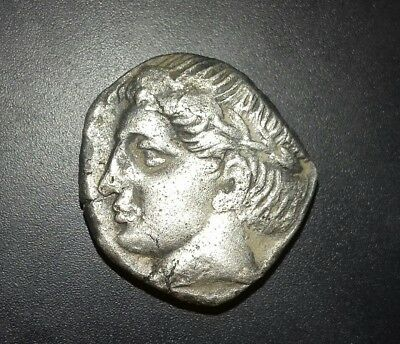Silver Tetradrachm Apollonia Pontika 400BC Ancient Authentic Greek Coin