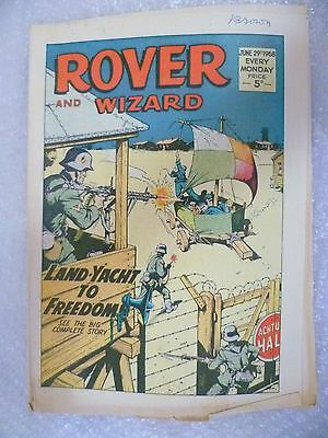 Comic- Rover and Wizard 29 June 1968