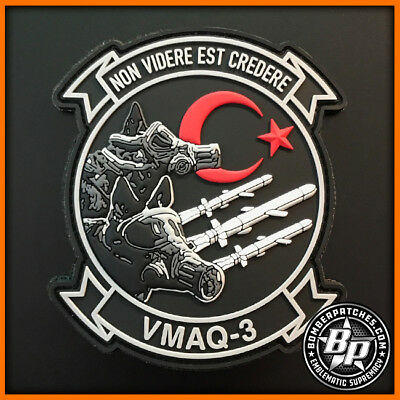 Vmaq-3 Moon Dogs Deployment Pvc Patch Ea-6B Prowler Nas Cherry Point Usmc Color