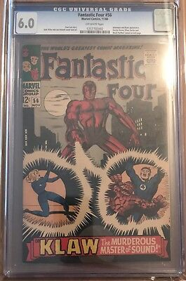 Fantastic Four #56 Cgc - Inhumans & Klaw Appearance! Black Panther! Kirby!