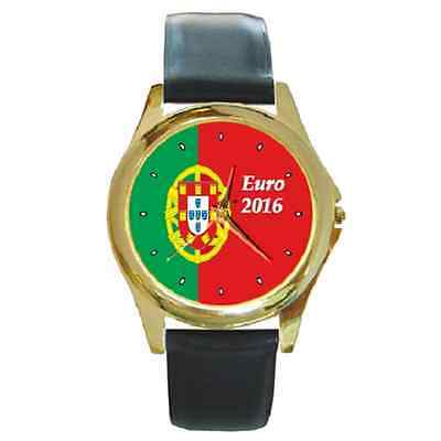 Portugal Flag Euro 2016 Winners Champion Flag Round Wristwatch *great Gift Item*