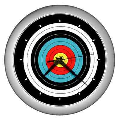 Archery Target Archer Wall Clock ******fantastic Item*****