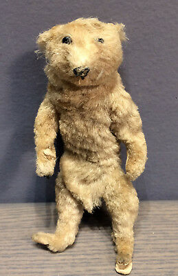 "Antique Vintage 4 1/2 "" Bear stuffed animal articulated arms and legs"