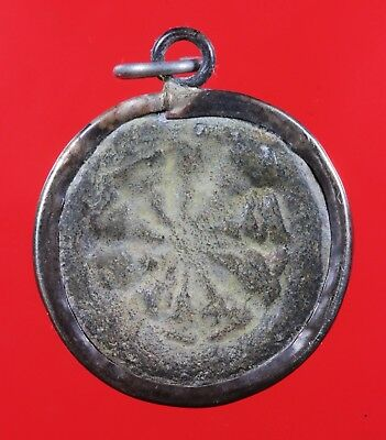 "Thai Amulet ""Old Coins Ngop Nam-oi LP Suk"" Genuine,Rich Luck.Protection."