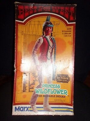 Princess Wildflower action figure BOX Parts Manual bookletMarx  Best of the West