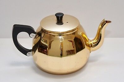 Vintage  / Retro Anodised Teapot - Gold - Towerbrite - Made in England - GVC