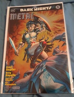 DARK NIGHTS METAL #1 Jim Lee Variant Wonder Woman Baltimore Comic Con Foil Cover