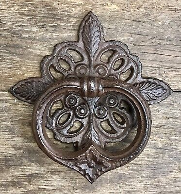 Cast Iron Four Leaf Celtic Vintage Brown Door Knocker