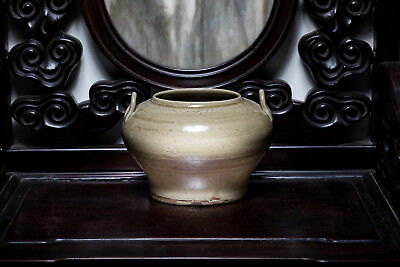 Song Style Chinese Antique Olive Green Glazed Water Pot ETR256