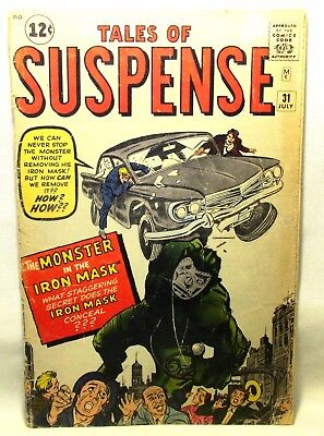 Tales of Suspense #31 July 1962 Comic Book Silver Age