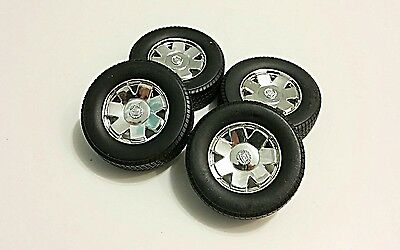 1/18 Diecast 1 set of 4 wheels and tires for Cadillac Escalade SUV