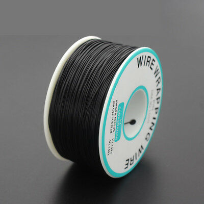 265M PCB Circuit board Cable 30AWG Tin Plated Copper Wire Wrepping Reel Black