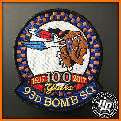 93D Bomb Squadron 100Th Anniversary Patch, B-52 Stratofortress, Barksdale Afb