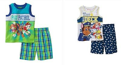 Paw Patrol Nickelodeon Toddler Boy Graphic Tank Top & Shorts Outfit Sets: 3T