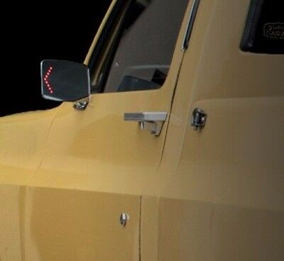 """""""pair"""" Chevy Gmc Truck 1973-1987 Pickup Chrome Outside Mirrors With Led Turn L&r"""