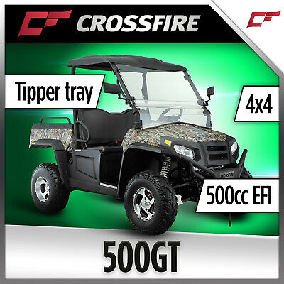 Crossfire 500GT UTV 500cc 4x4 Diff Lock EFI  Tipper Windscreen  Side By Side