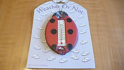 "New Weather Thermometer Outdoor Window Weather Or Not ""lady Bug """