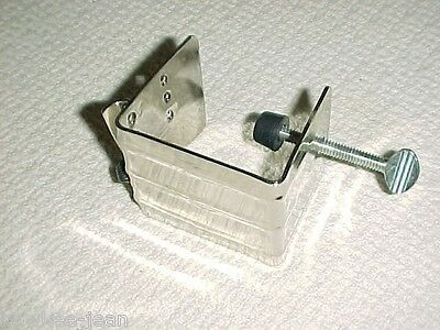 Braid-aid klamp, table clamp for braiding rugs, rug-making tool ... see pics