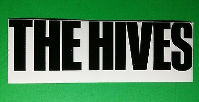 """THE HIVES B&W BLACK LETTERS WHITE BACKGROUND MUSIC 2"""" x 6"""" STICKER"""
