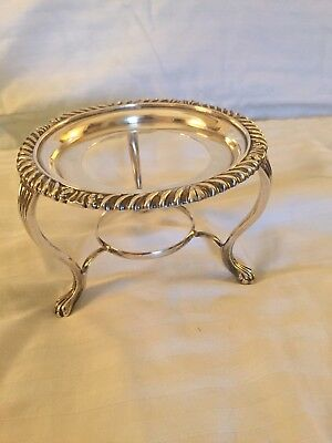 Antique Harrod's Solid English Sterling Silver Warmer