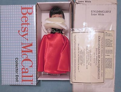 """8in Tonner TINY BETSY """"SNOW WHITE """" LE 2002 PRISTINE RARE & NEVER REMOVED 15 YR"""