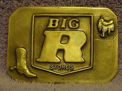 Vintage Belt Buckle Advertising Big R Stores Free Shipping