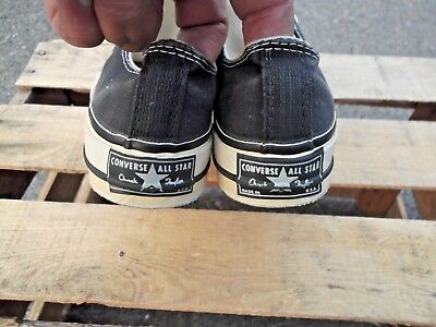 Vintage 70's Converse Chuck Taylor All Star! Original New! Sz 3 Black Label USA