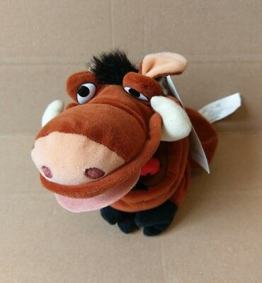 "NEW Disney Store The Lion King Pumba With Bug 10"" Hand Puppet Plush Stuffed Toy"