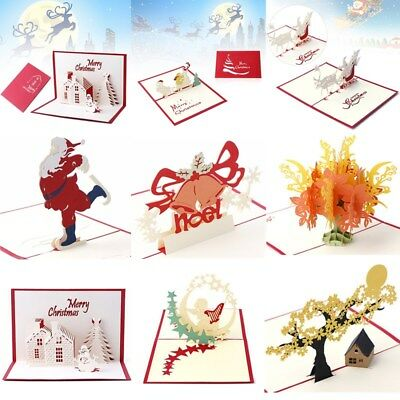 3d pop up greeting card handmade happy birthday merry christmas 3d pop up greeting card handmade birthday party invitation merry christmas card bookmarktalkfo Images