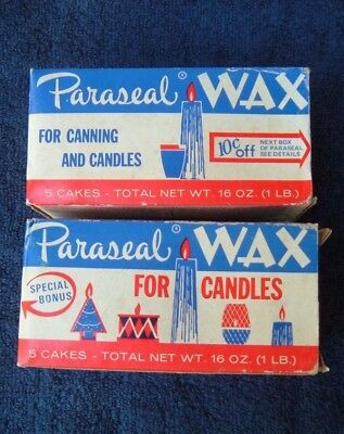 2 Vintage Paraseal Wax for Canning and Candles in Original Box
