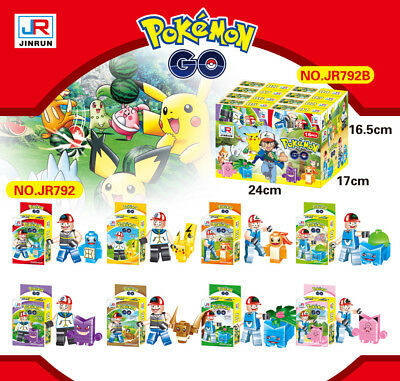 8pcs Pocket Monster Building Blocks Nano Pokemon Pikachu Figure Kid Toy 792
