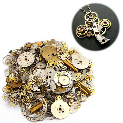 Vintage antique Steampunk Watch Parts Pieces gears cogs wheels accesseries 50g