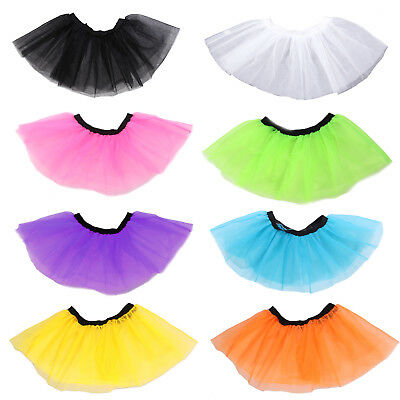 1980s Ladies Womens Girls Neon UV Tutu Skirt Fancy Dress Hen Flo Party Costume