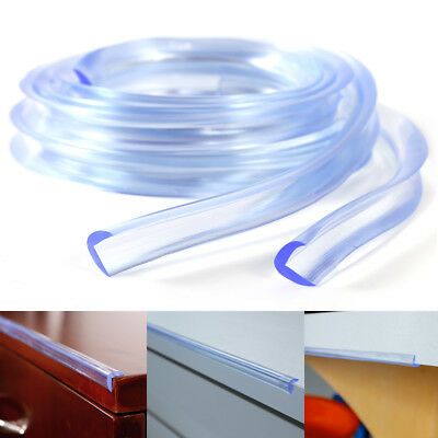 2x Soft Clear Table Desk Furniture Edge Corner Protector Guard Strip Baby Safety
