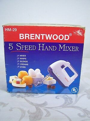 Brentwood 5 Speed Hand Mixer HM-29