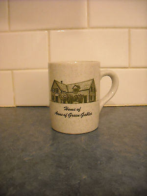 Vintage Coffee Tea Mug Home Of Anne Of Green Gables Story Green Flecked Lovely