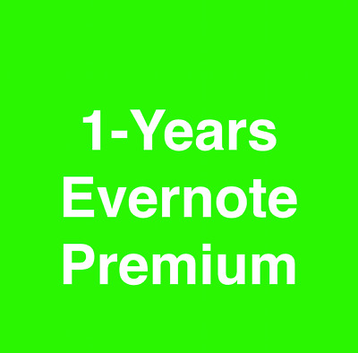 Brand New 1-Year Evernote Premium Subscription Account Only