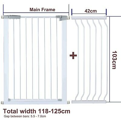 103CM High Adjustable 117-126CM Baby Pet Child Safe Security Gate Stair Barrier