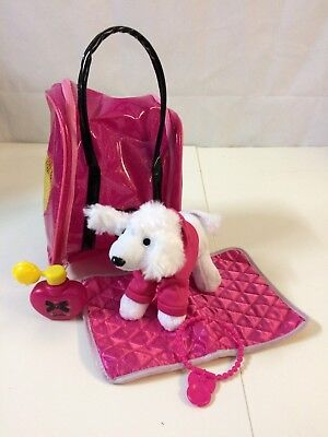 Rare Barbie And Me Glamtastic Style N Go Poodle Pouch Toy