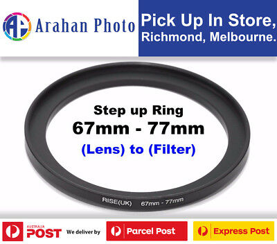 Step Up Ring 67-77mm Filter Lens Adapter 77mm Filter to 67mm Lens