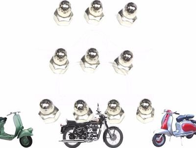 Lambretta Gp Li Sx Tv Rear & Front Hub Nut 10 Unit @de