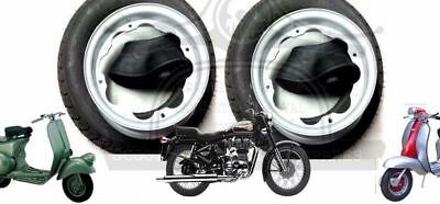 Lambretta Wheel Rim +Continental Tyre 3.50 X 10 + Inner Tube 2 Units @de